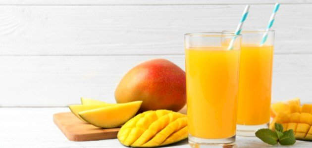 طريقة تحضير عصير المانجو لزيادة الوزن