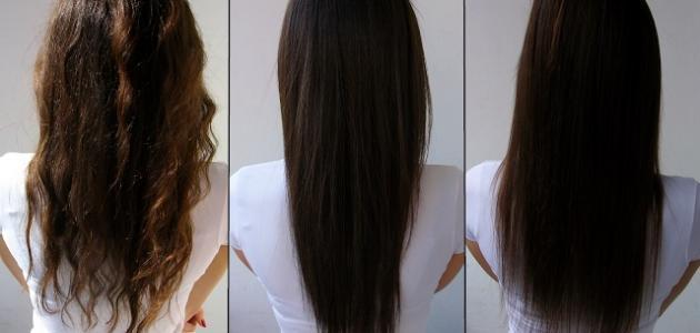 علاج وفرد الشعر بالبروتين