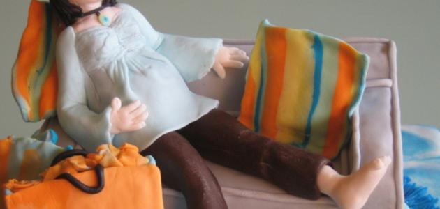 تعب الشهر التاسع من الحمل